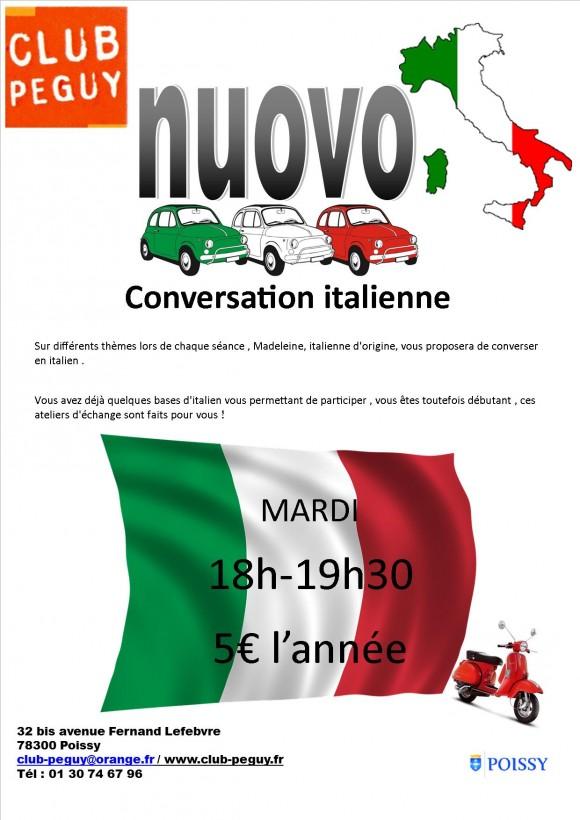 conversation italienne soir
