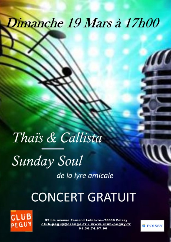 Affiche 19 mars 2017 Thais Sunday Soul Vdefinitive