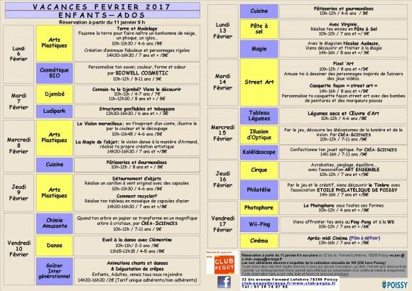 programme fevrier 2017 VD